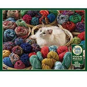 Cobble Hill Fur Ball Cat Jig Saw Puzzle